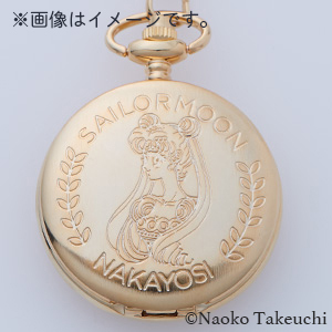 [Only for Pretty Guardians members] Nakayosi Reproduction Series Pretty Guardian Sailor Moon Gold Watch